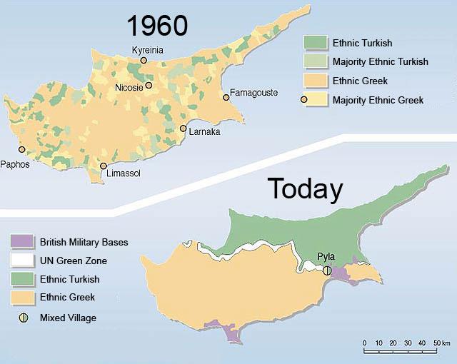 Cyprus-etnicity MAP 1960 vs today