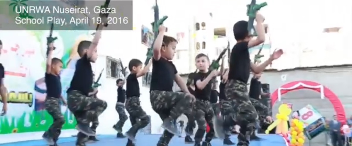 VN organiseert terreurkampen voor Palestijnse kinderen